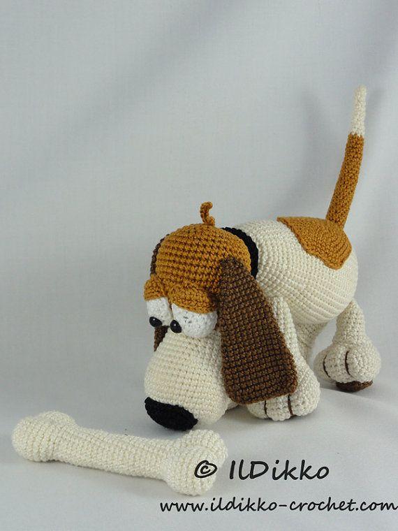 Amigurumi Crochet Pattern Butch the Basset by IlDikko on Etsy