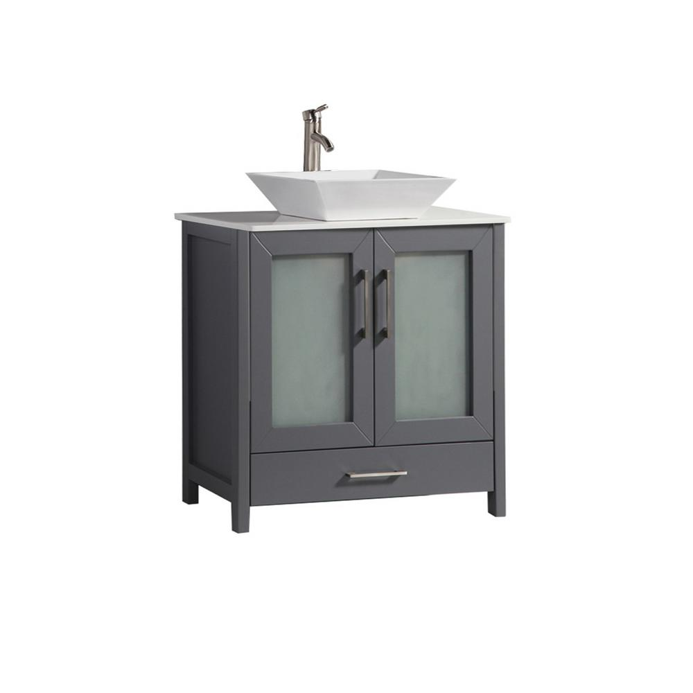 Mtd bath dijon in w x in d x in h vanity in gray with