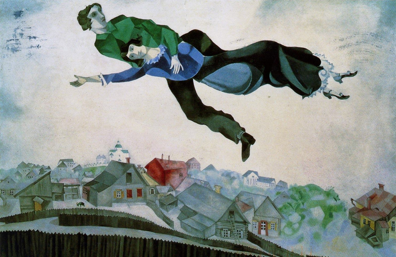 Over the Tawn - Marc Chagall
