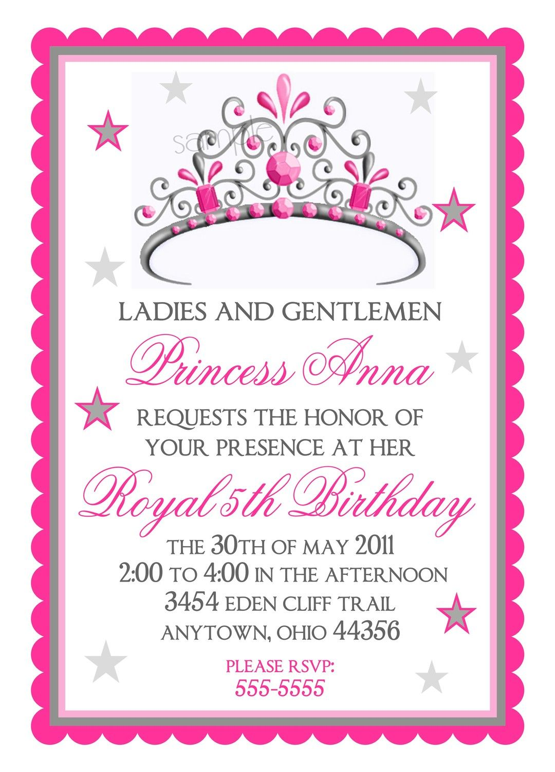 princess party invitations custom princess invites and cards