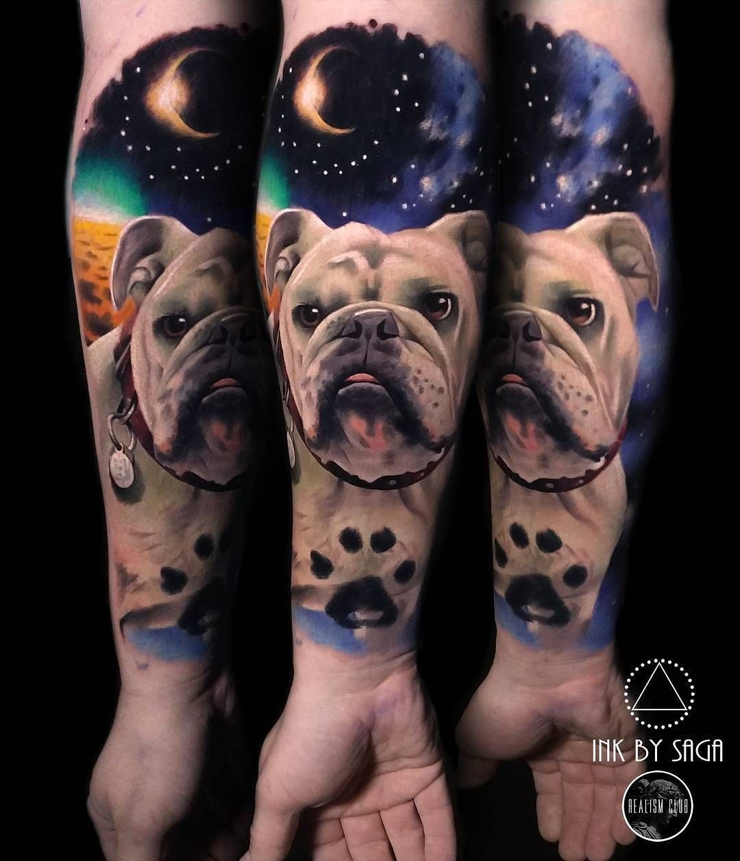 Space Bulldog Tattoo By Inkbysaga At Boss Tattoos In Calgary
