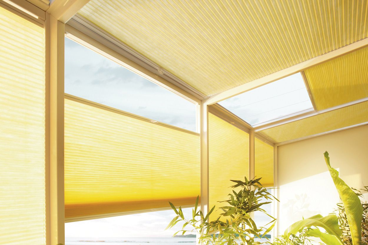 Yellow Duette blinds from Apollo Blinds. Gen Z yellow home ...