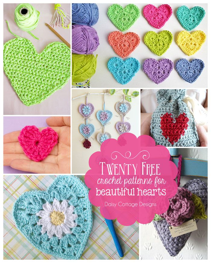 Crochet Heart Pattern Collection   Ganchillo, Patrones de corazón de ...