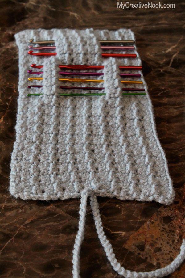 Crochet Hook (or Knitting Needle) Holder | craft | Pinterest ...