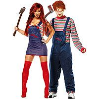 Youu0027ll certainly look just like a doll while youu0027re wearing this Sexy Chucky Adult Couples Costume.  sc 1 st  Pinterest & Couples Halloween Costumes 2012 Why do you choose the costume of ...