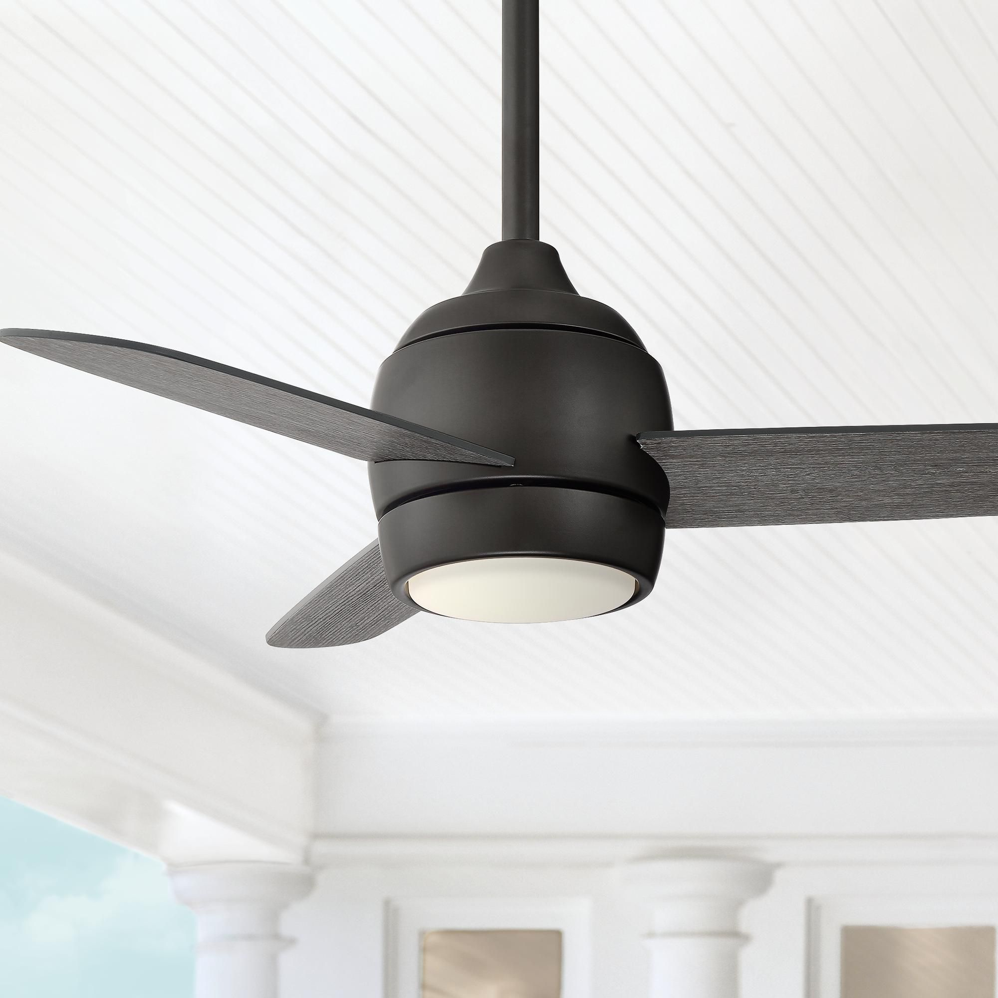 36 Inch Airbourne Oil Rubbed Bronze Damp Rated Led Ceiling Fan