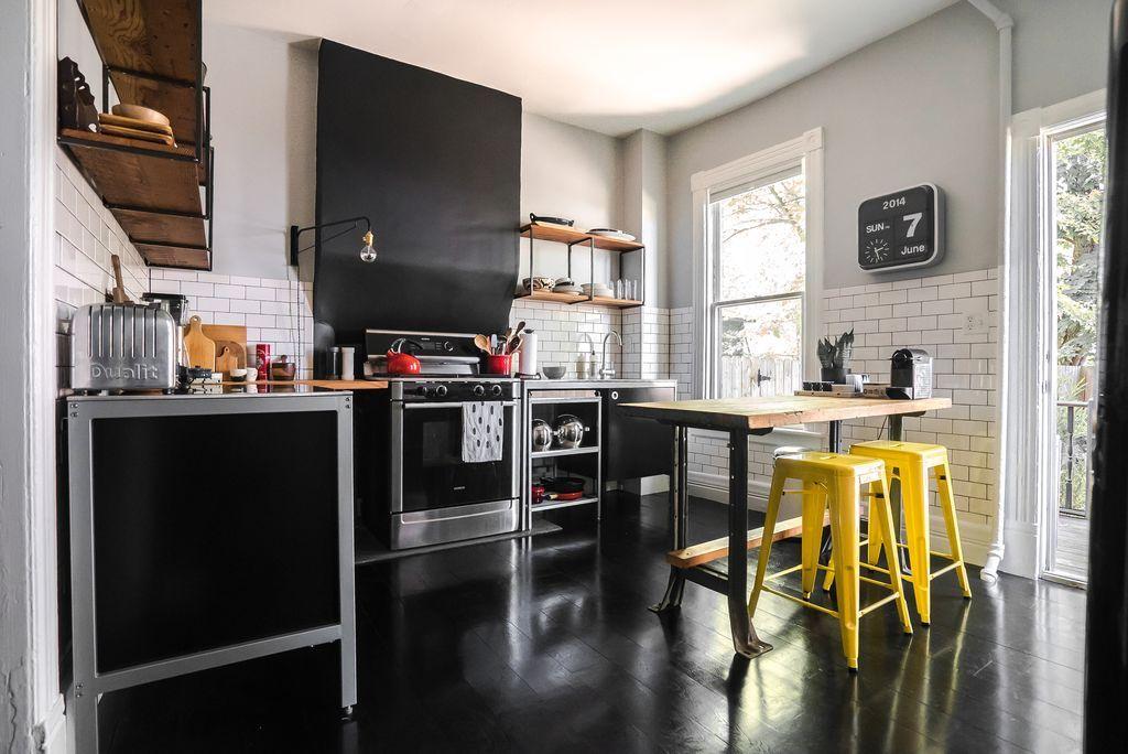 Contemporary Kitchen with Ikea Udden Free-Standing Kitchen