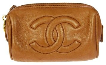 7f5b2ec1554 Get the lowest price on CHANEL CC Logos Mini Pouch Bag Leather Vintage and  other fabulous designer clothing and accessories! Shop Tradesy now