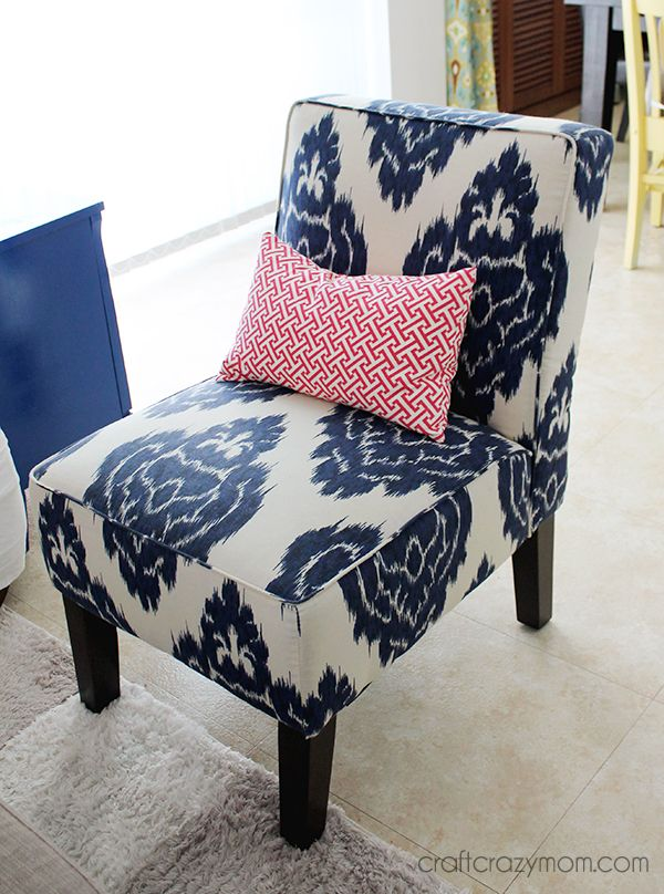 duralee blue ikat chair inspiration for re-upholstery | project
