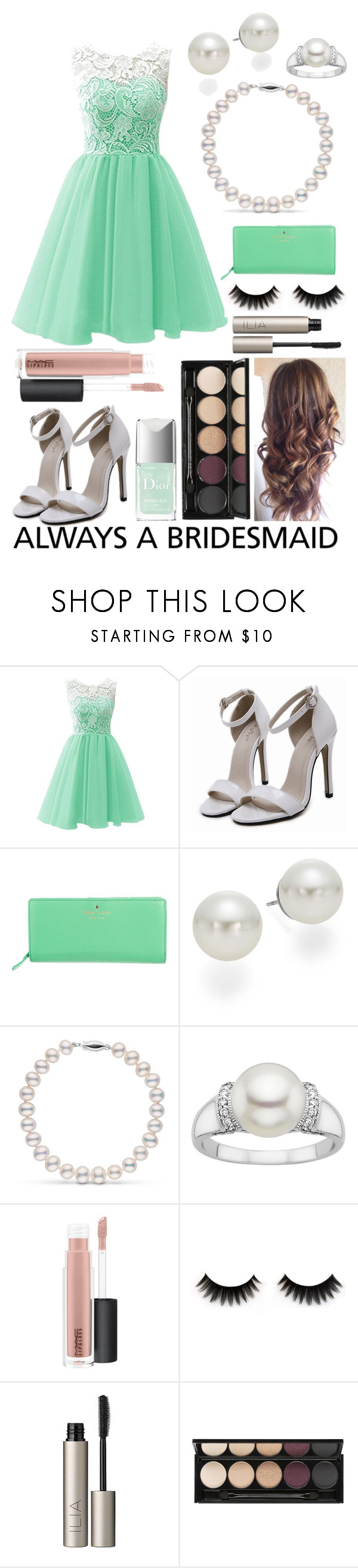 """always a bridesmaid"" by doggyrules on Polyvore featuring Kate Spade, AK Anne Klein, MAC Cosmetics, Ilia and Witchery"