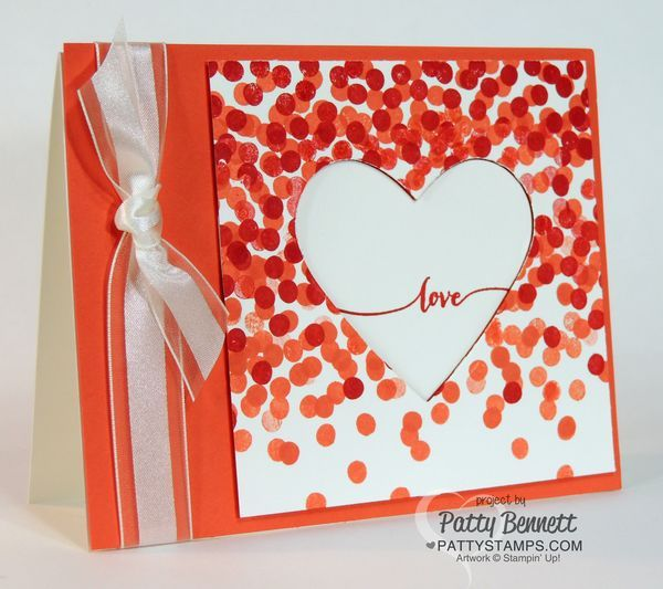 dotty angles stamp set quick and easy stampin up valentine heart card idea - Stampin Up Valentine Card Ideas