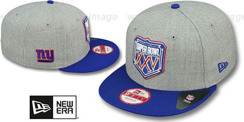 NY Giants  SUPER BOWL XXV SNAPBACK  Grey-Royal Hat by New Era on hatland.com f309d2b74