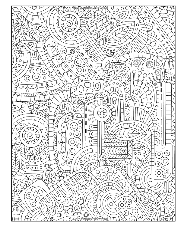 Diabolically Detailed Coloring Book Volume 4 ArtFilled Fun