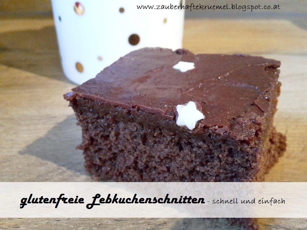 Glutenfreie Lebkuchenschnitten Schneller Blechkuchen Fur