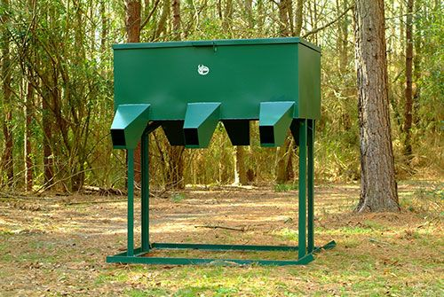 Steel Deer Feeder 800lb 6 spout Low bay Gravity Fed  | work