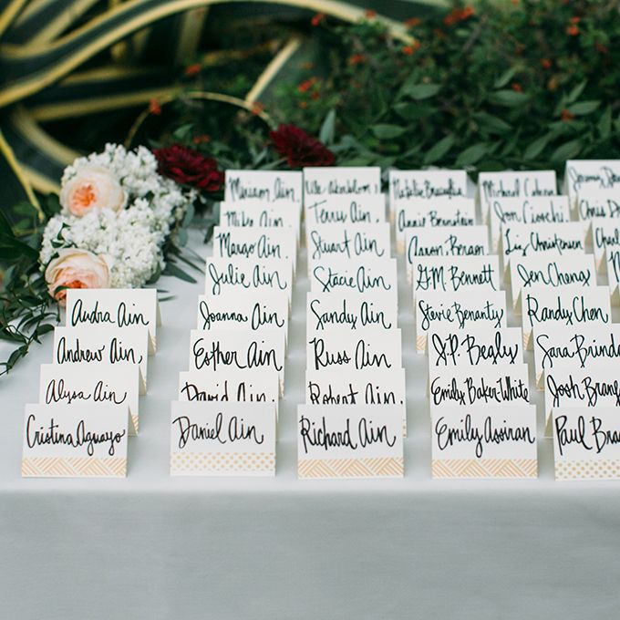 Card And Seating Chart Display Ideas