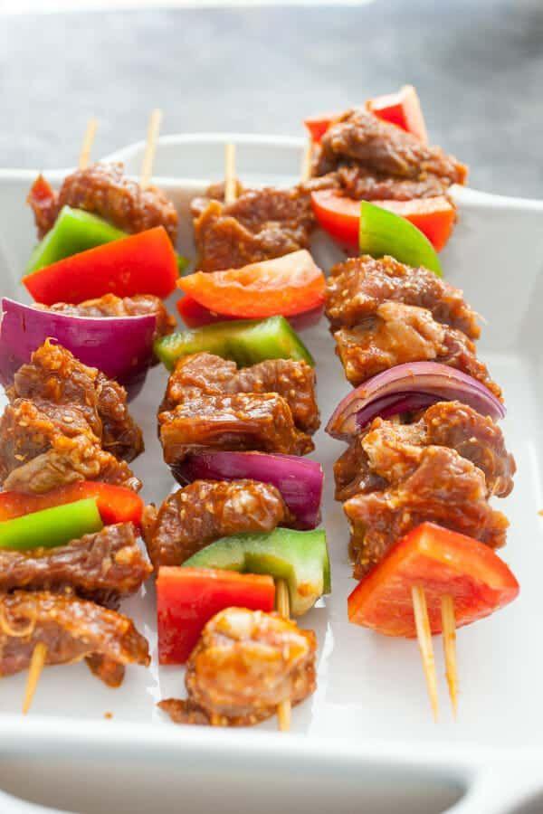 Bulgogi Steak Kabobs | Recipe (With images) | Kabob ...