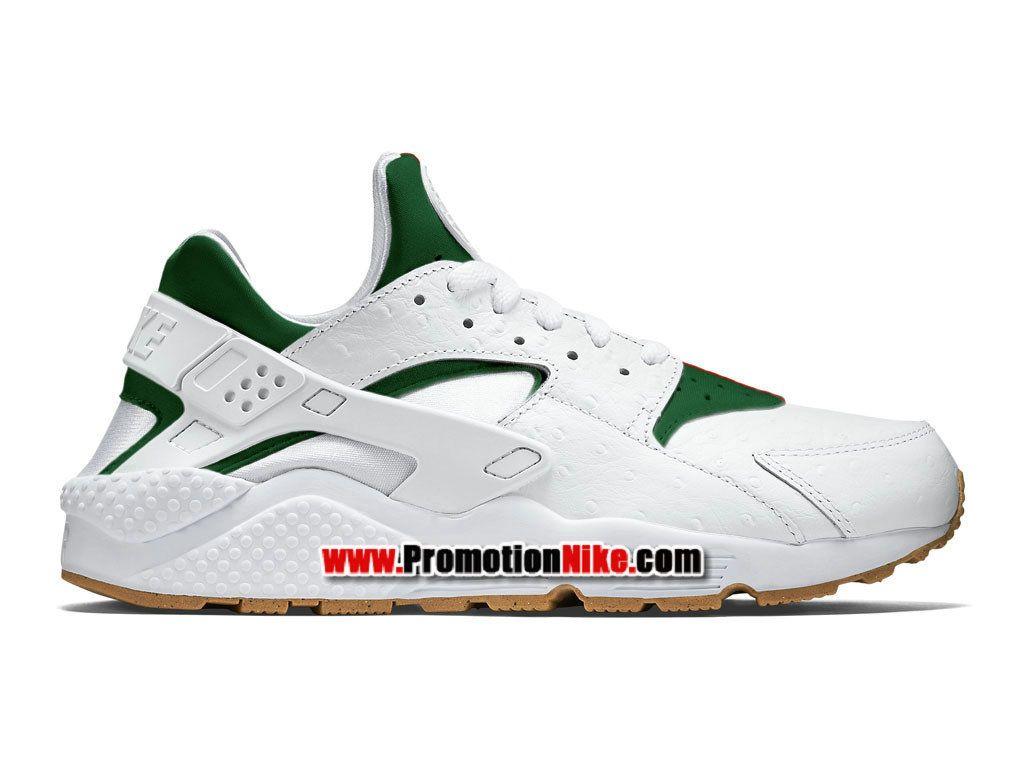 pretty nice aaa1a 14871 Nike Air Huarache X Gucci Chaussure Nike Custom Pas Cher Pour Homme Blanc Vert  705008 ...