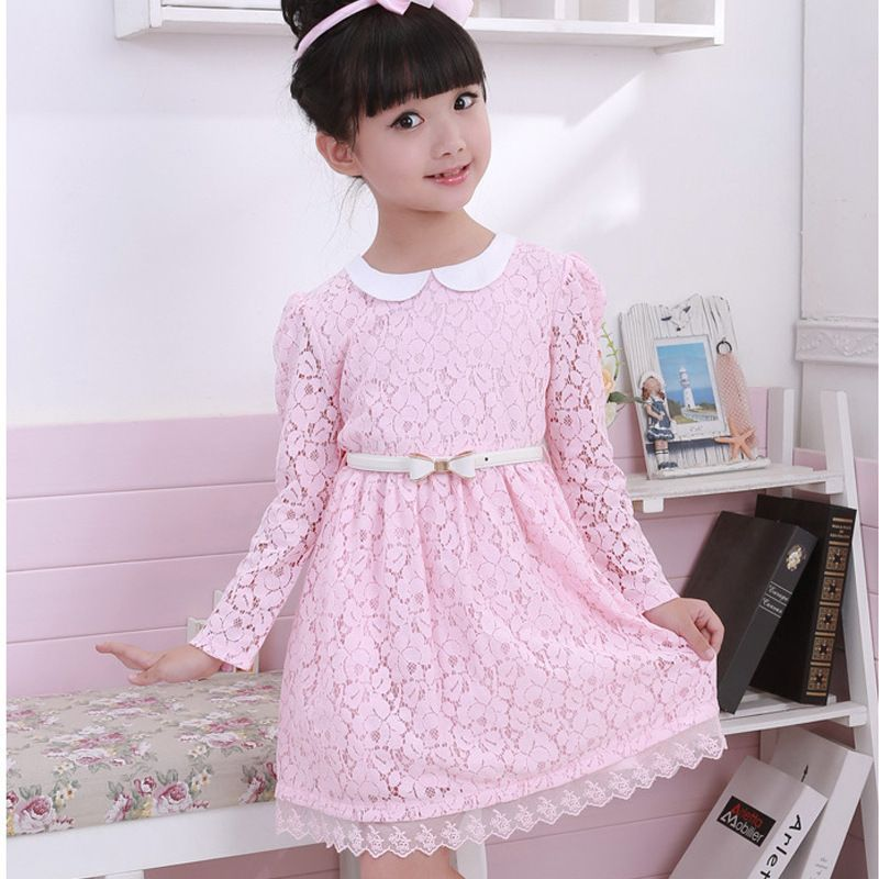 5pcs/lot Princess Lace Pink Vestidos Ninas Baby Dress Cinderella Jacadi La Reine Des Neiges Girls Dresses Children Clothing