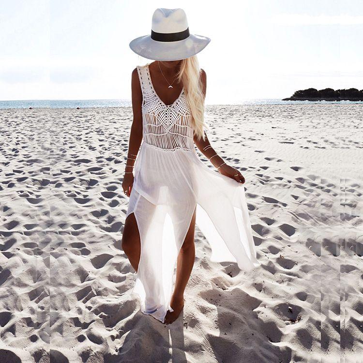 010b7aa6b1  28.2 - Awesome Sexy white beach cover up bikini cover up swimwear women  summer dress beach skirt crochet skirt bathing suit summer dress - Buy it  Now!