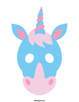 Unicorn Mask Templates Including A Coloring Page Version