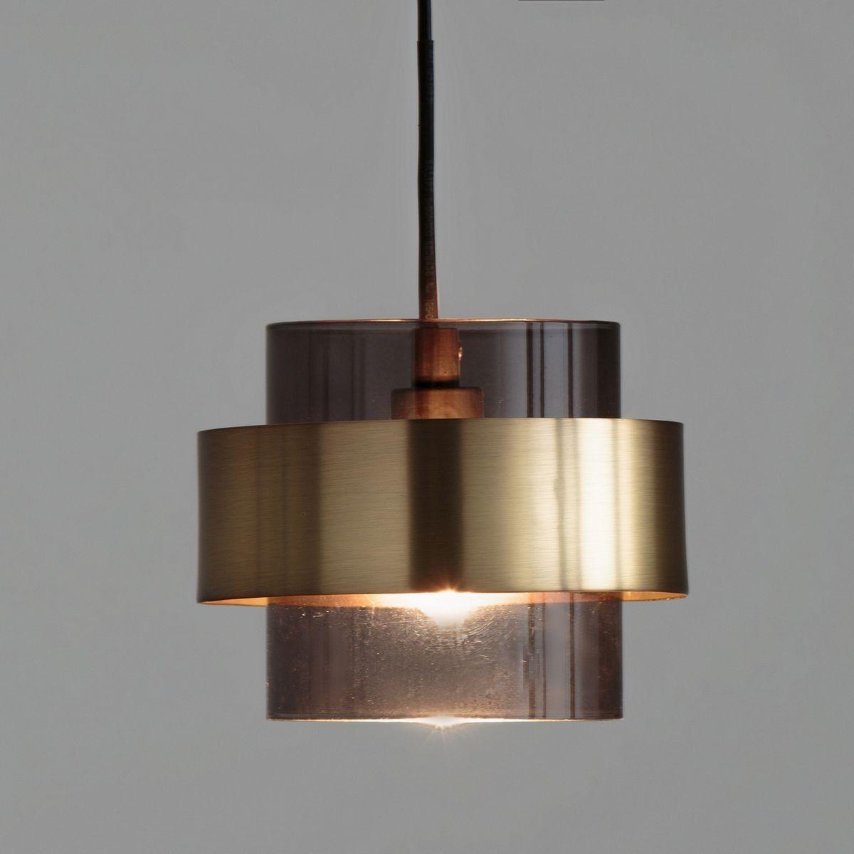 La Suspension En Verre Fume Et Metal Finition Laiton Botello Habillez Votre Interieur D Un Luminaire Suspension Verre Luminaire Suspendu Appliques En Laiton