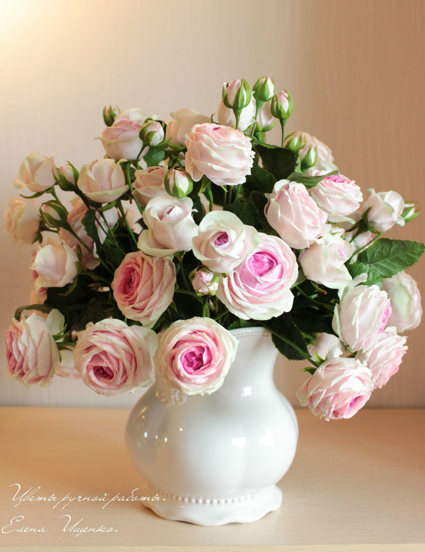 roses handmade polymer clay