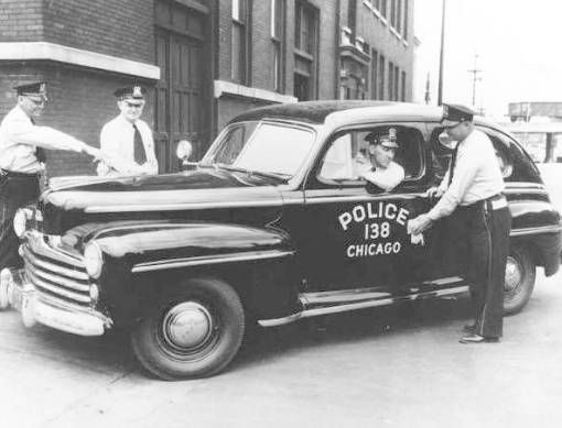 Chicago Pd Squad Car Circa The Late 1940s With Images Police