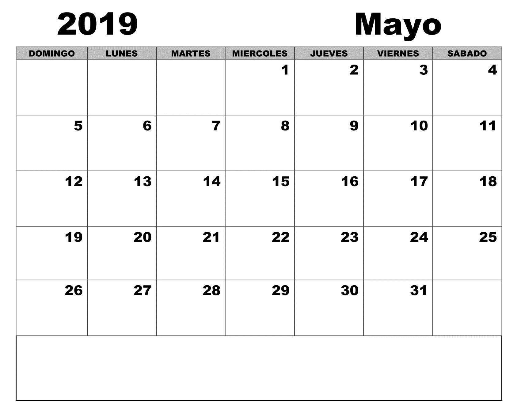 Calendario Word 2019.Calendario 2019 Para Imprimir Blanco Mayo 200 May 2019 Printable