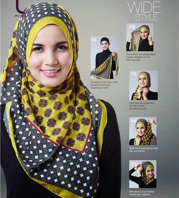 Tutorial Hijab Segi Empat Zoya Gaya Abaya Gaya Hijab Gaya Busana