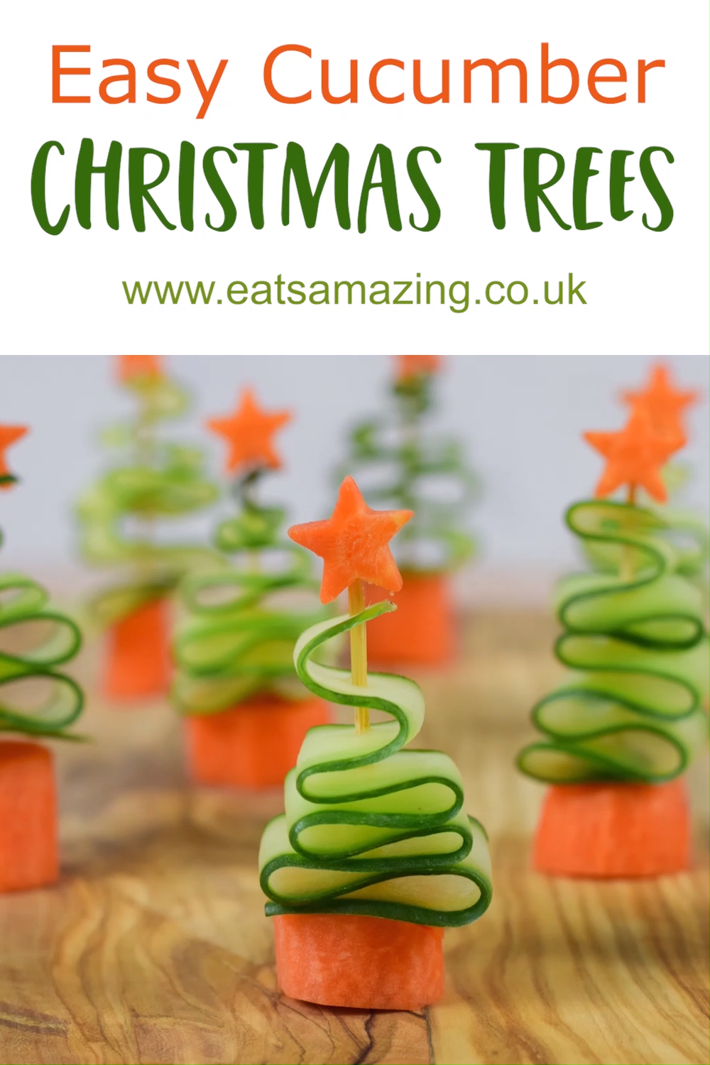 Easy Cucumber Christmas Trees Recipe