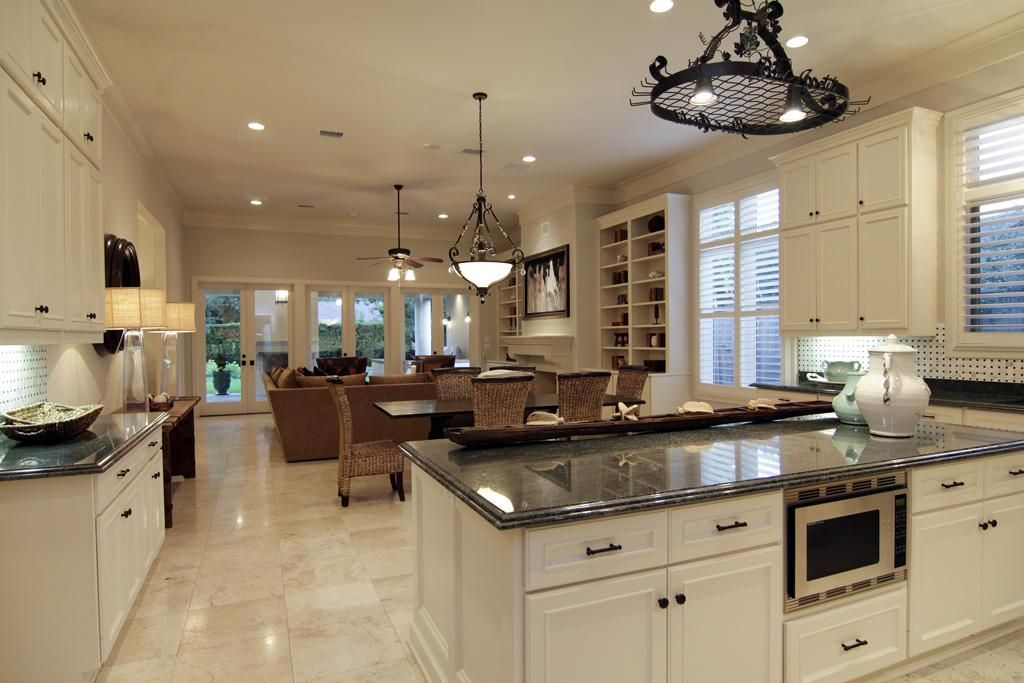 kitchen and family room layouts - Google Search