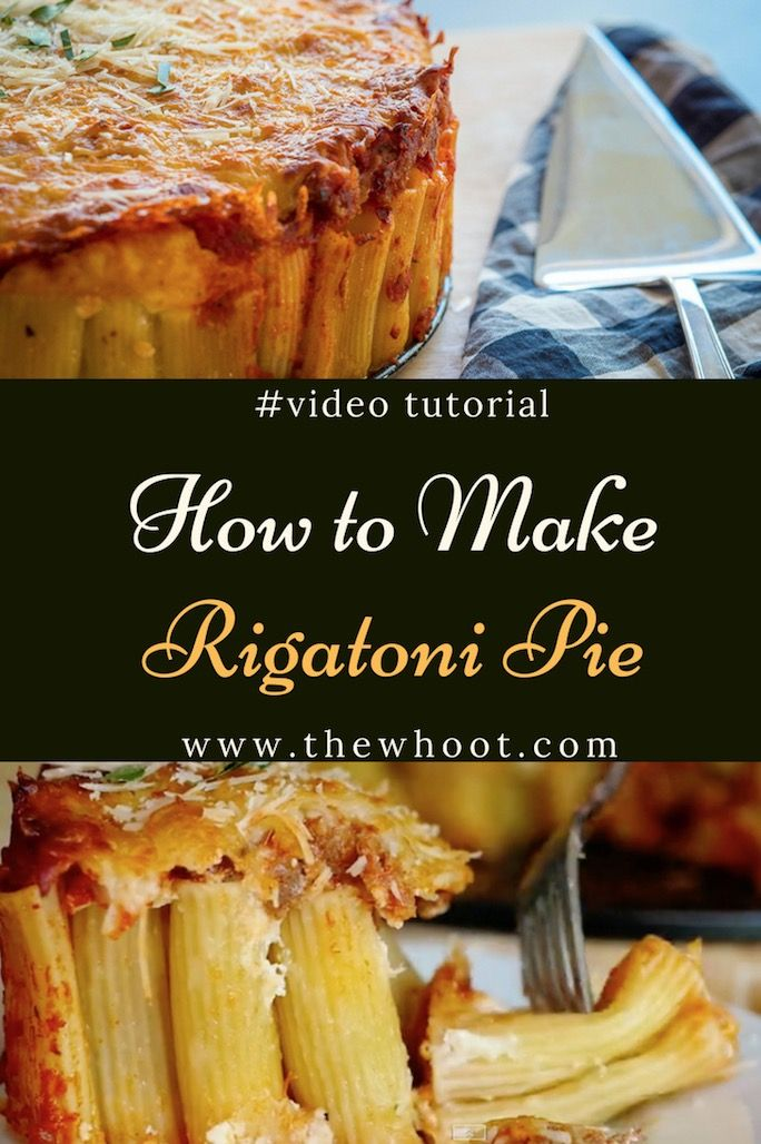 How To Make Rigatoni Pie Recipe Quick Video Tutorial images