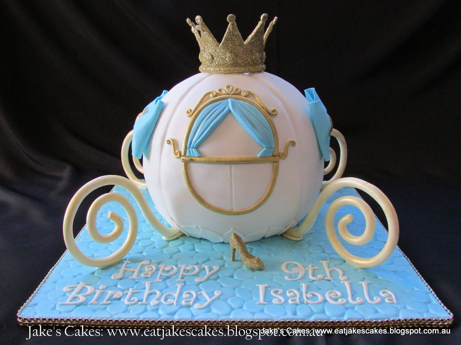 cinderellas carriage birthday cake Carriage cake for a little