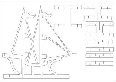 bateau kirigami d cors papier papiers cr atifs cartes. Black Bedroom Furniture Sets. Home Design Ideas