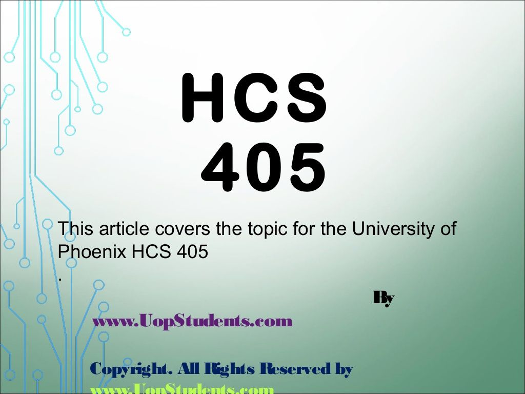 Hcs 405 week 2 health care financial terms paper by
