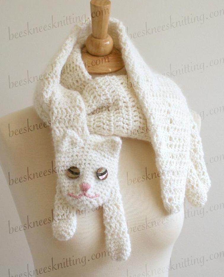 Cat Cuddler Scarf Crochet Pattern | Scarf crochet, Crochet and ...
