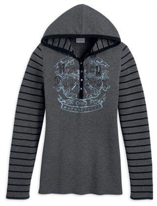 Harley-Davidson Women's Longsleeve Hooded Knit Top Sweatshirt, Grey. 96379-12VW - size XL
