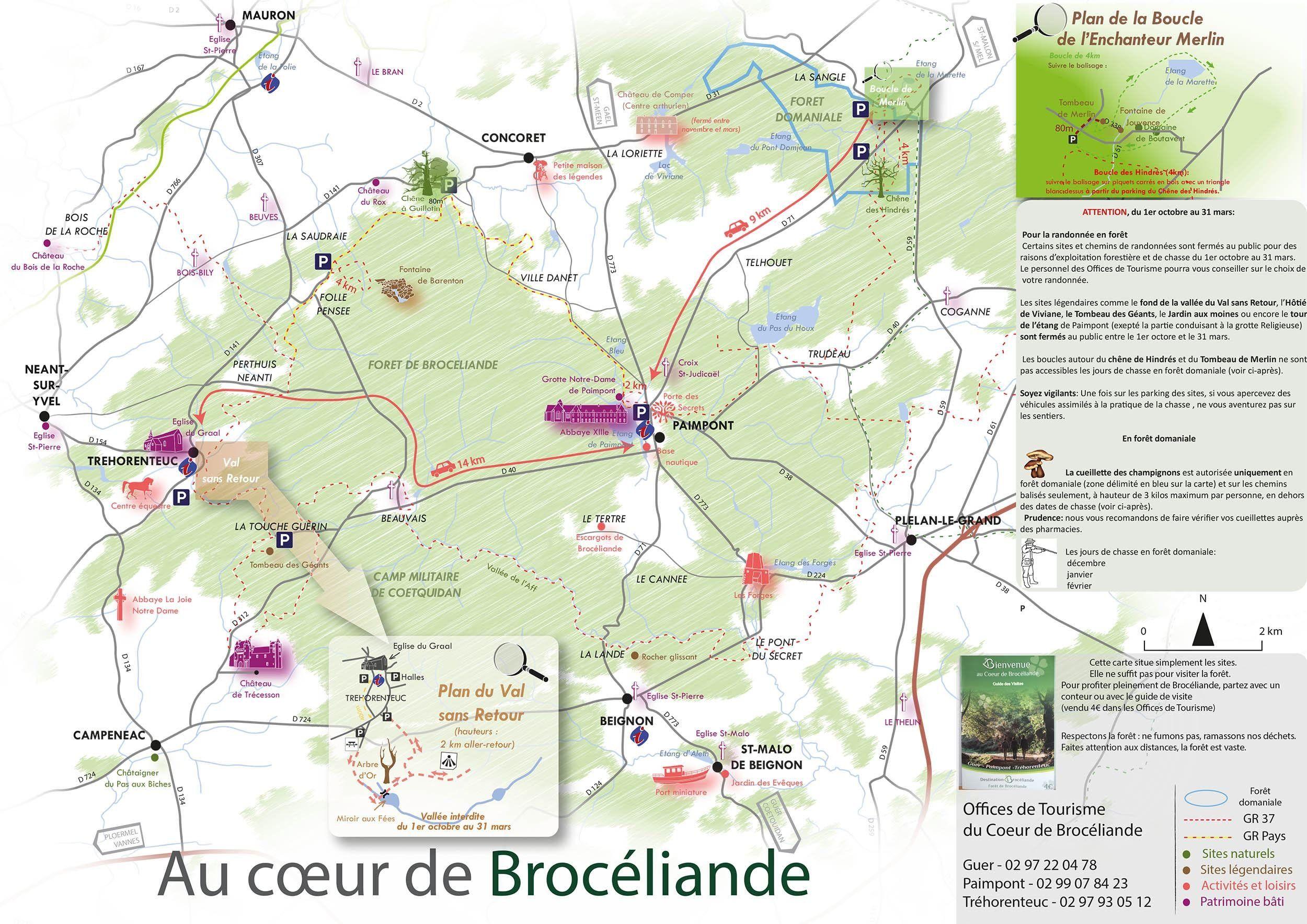 foret de paimpont carte Cartes de la forêt de (avec images) | Foret de broceliande