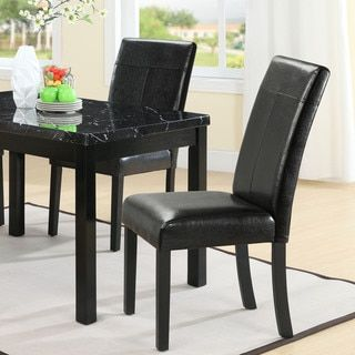 Enjoyable Compass Elegant Black Vinyl Dining Chair Dining Chairs Gmtry Best Dining Table And Chair Ideas Images Gmtryco