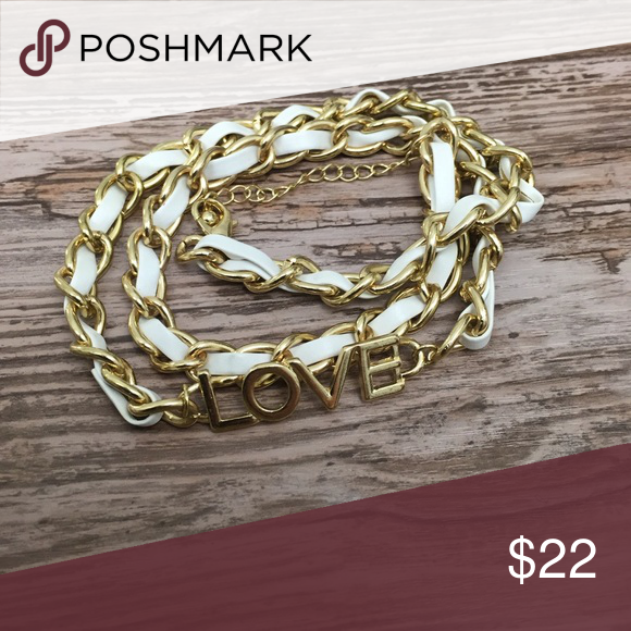 ❤️LOVE Chain and Pleather Wrap Bracelet ~Get this sexy wrap bracelet! ~Be a style icon and show the love! ~This are made with nickel-safe metals and patent material. ~This is brand new! ~Get this now!  This will go quick! ~NO TRADES S Rosebud Fashions Jewelry Bracelets