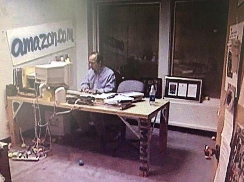 The Richest Man In The World Jeff Bezos In His Executive Office