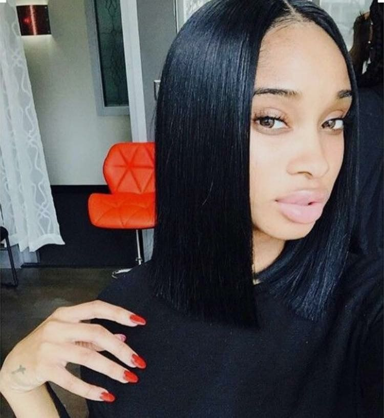 Middle part bob  blunt cuts Pinterest Bobs Middle - Bob Hairstyles Sew In