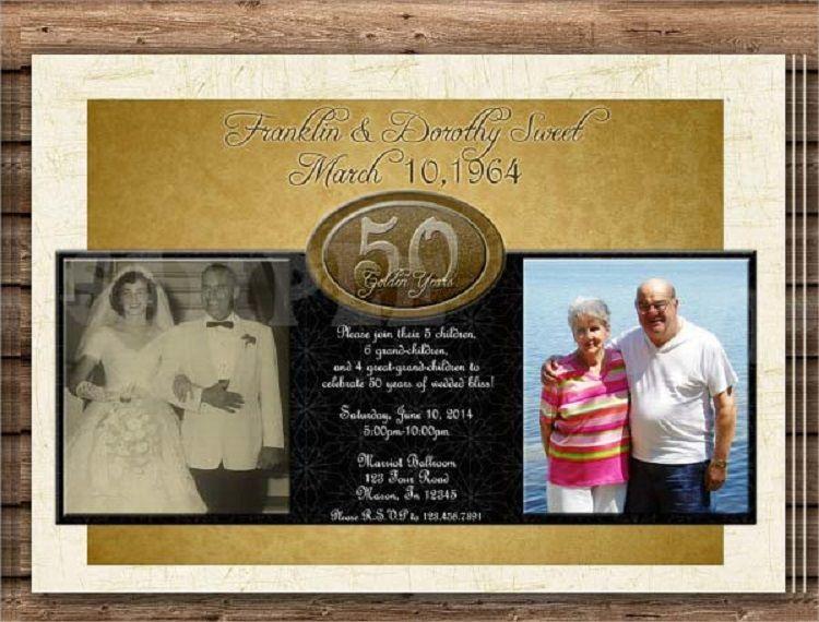 50th wedding anniversary invitations templates free download Buick