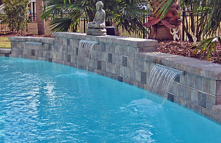 Cascade Waterfall built by Blue Haven Pools Pools Pinterest