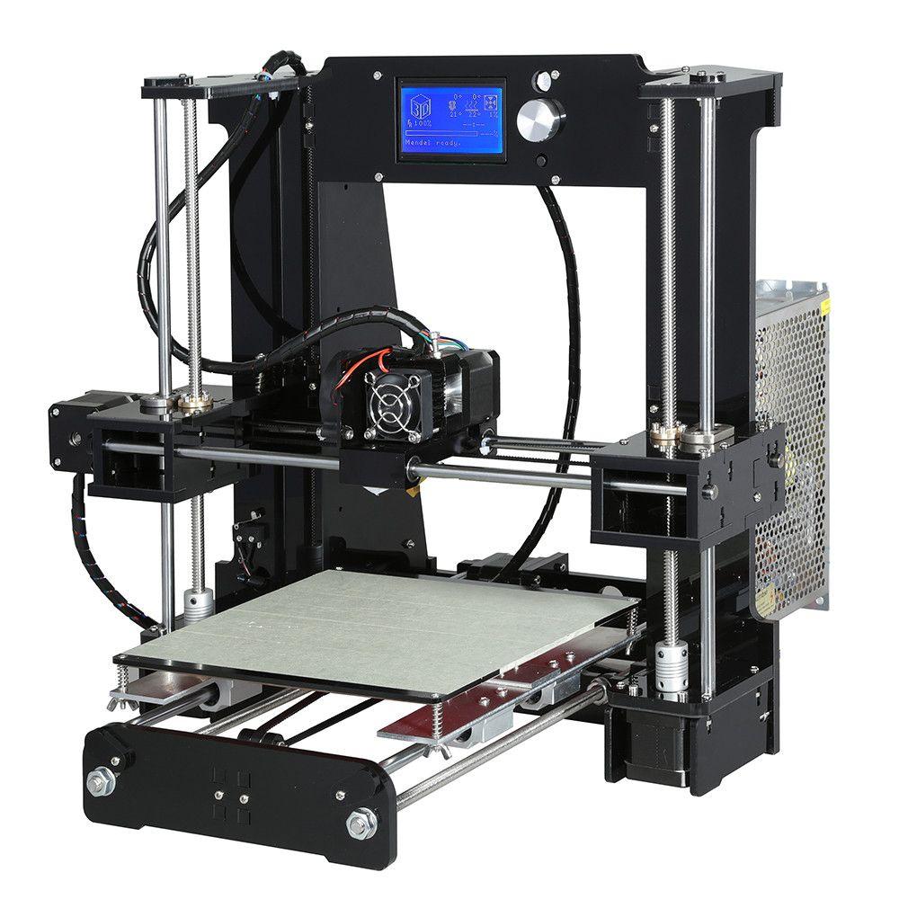 Анет A6 Алюминиевый Очаг 3D Принтер Размер 220*220*250 мм Reprap Prusa i3 DIY Kit 3d принтер 2 Рулона Нити 16 ГБ SD Card Бесплатный Инструмент купить на AliExpress