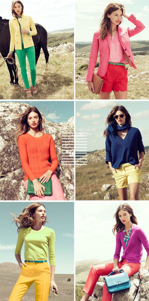 Bright spring outfits