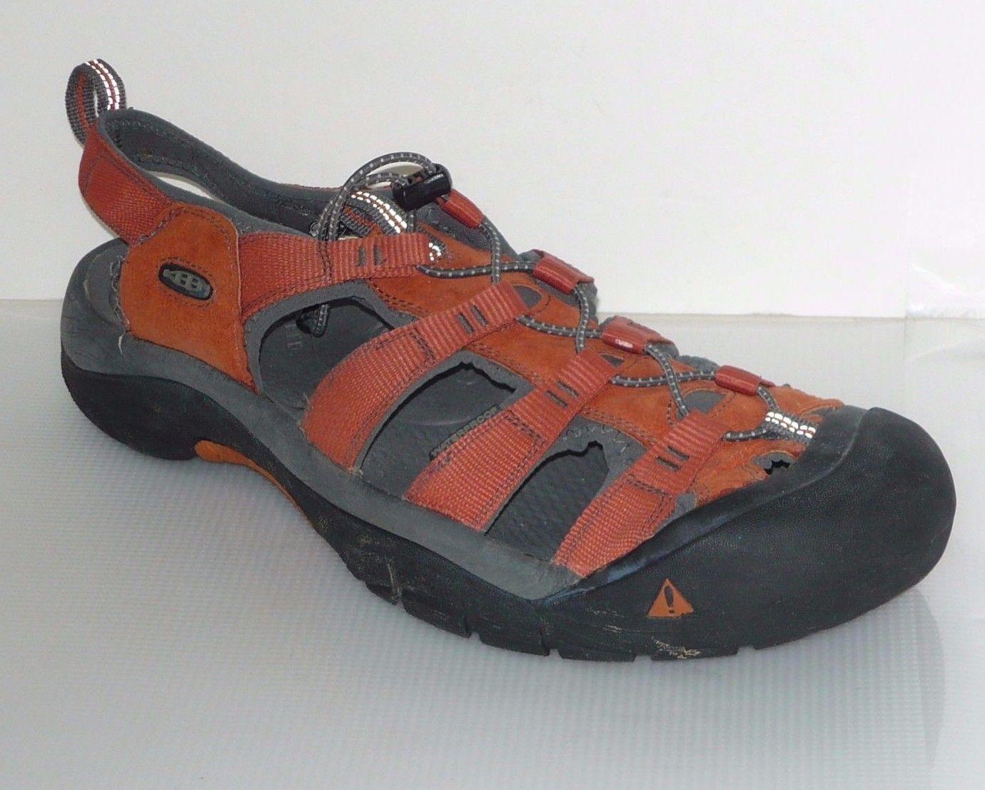 Genuine Keen Orange Leather Men's Sandal Sz 17