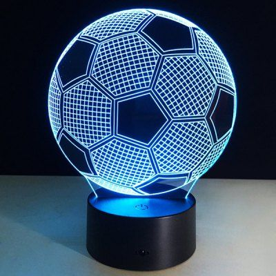 Football Shape Touch Colorful Night Light Mood Lamps 3d Led Night Light Ball Lights