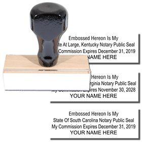 Regular Embossed Hereon Stamp Notary Stamps Acorn Sales